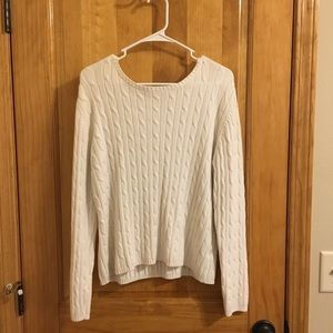 Knit off white sweater